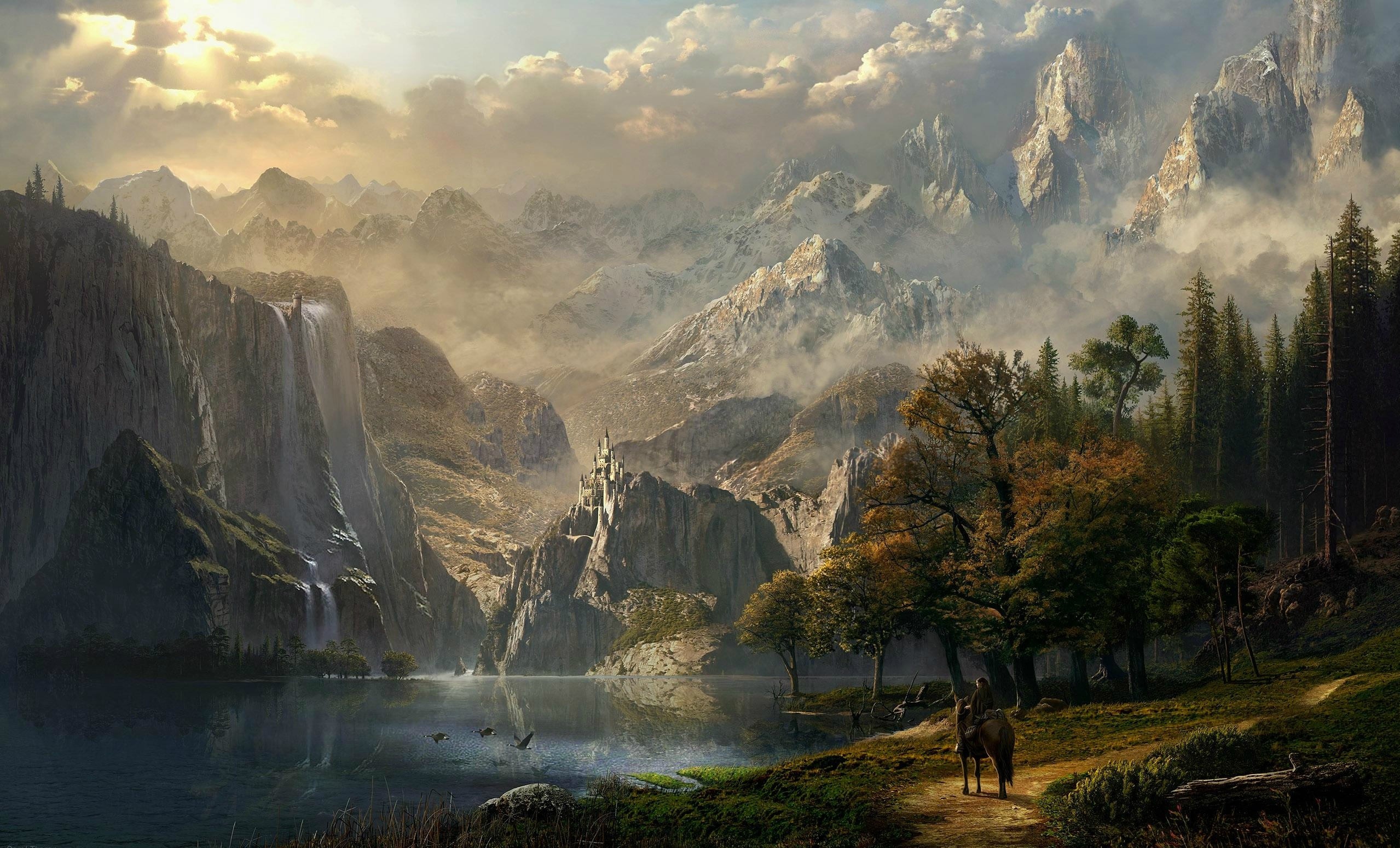 Fantasy background mountains