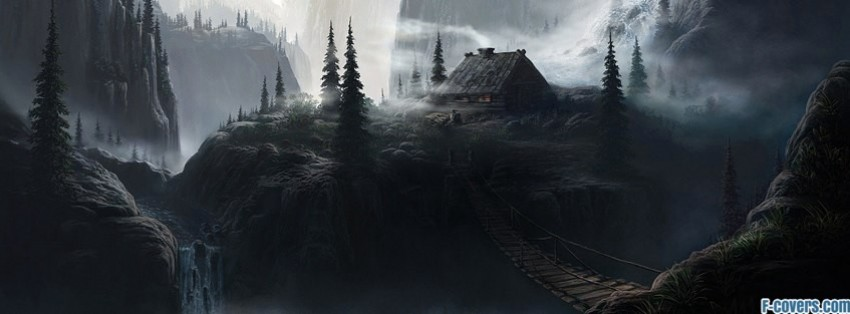 Landscape fantasy art facebook cover timeline banner for fb