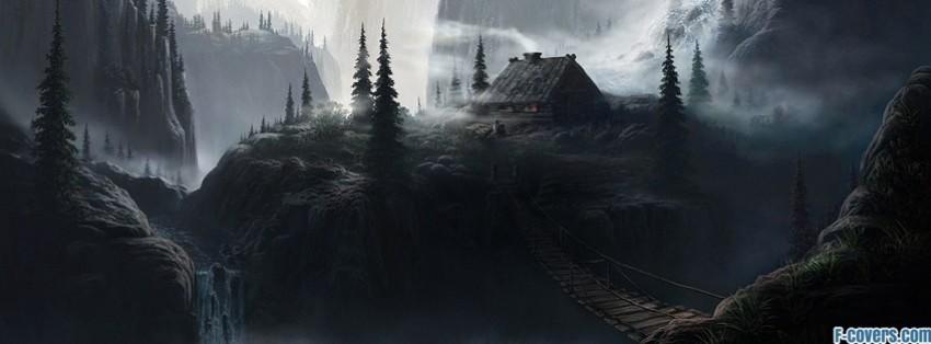 Landscape fantasy art facebook cover timeline banner for fb