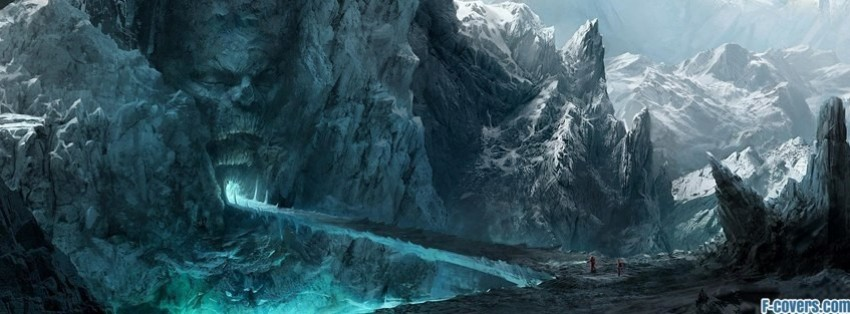 Ice mountains fantasy art facebook cover timeline banner for fb