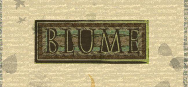Blume banner