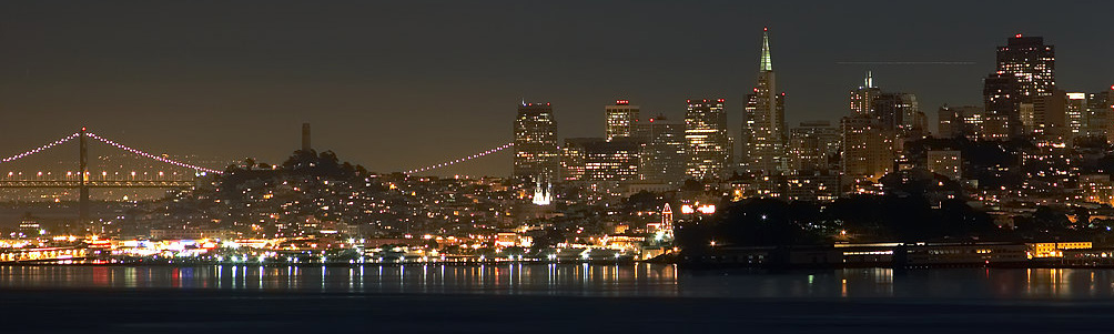 San francisco by night skyline