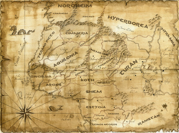 Hyborian map by nordheimer
