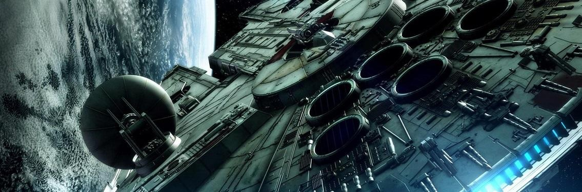 Star wars cool millenium falcon banner