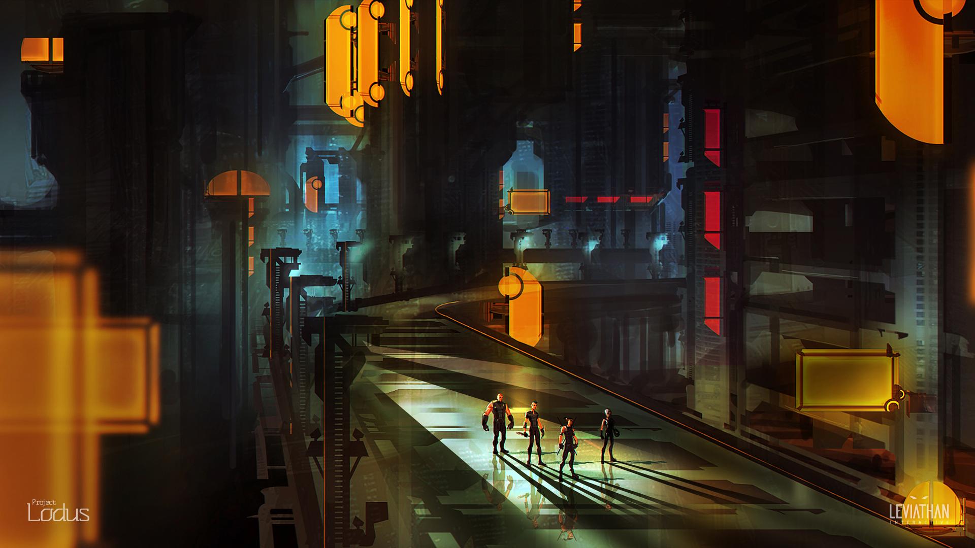 Cyberpunk sci fi game city        g 1920x1080 1