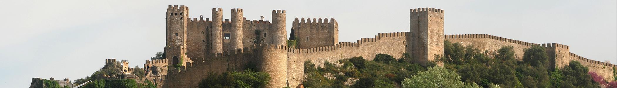 Obidos banner castle walls