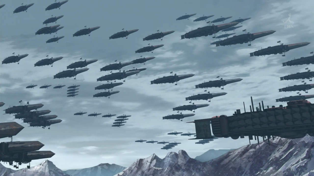 Last exile ginyoku no fam 13 ades airships military ridiculous
