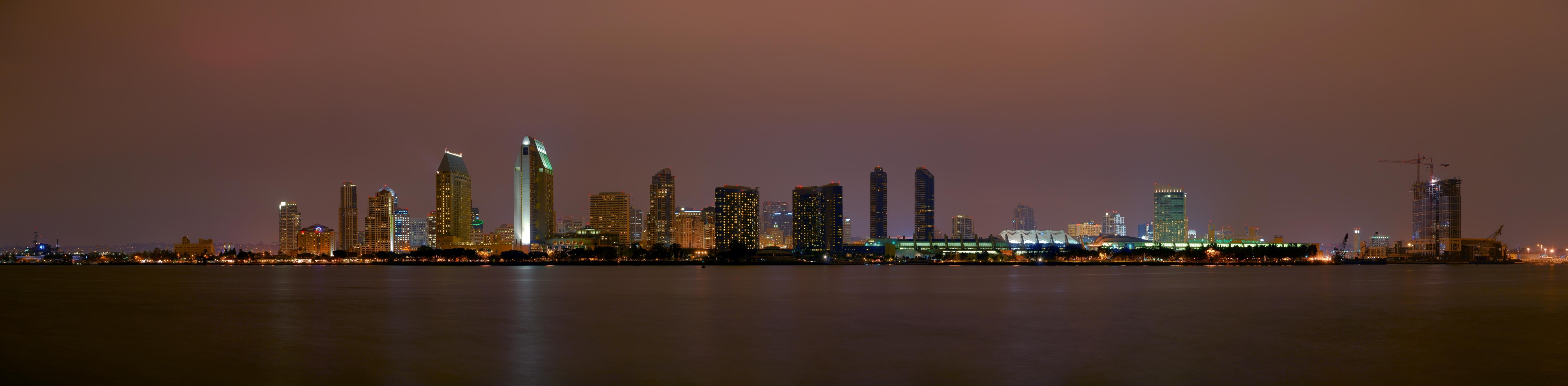 San diego skyline night  1