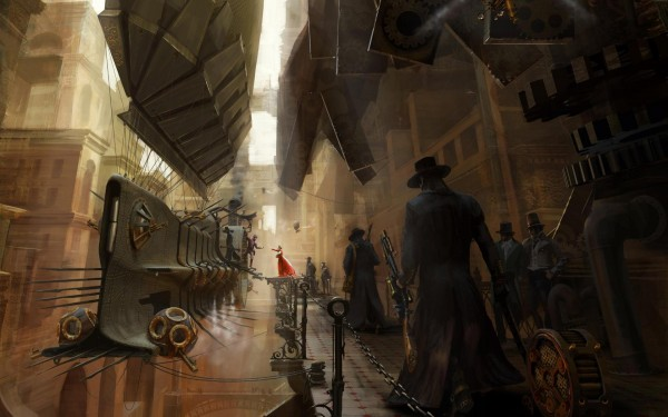 Station steampunk wallpaper 600x375