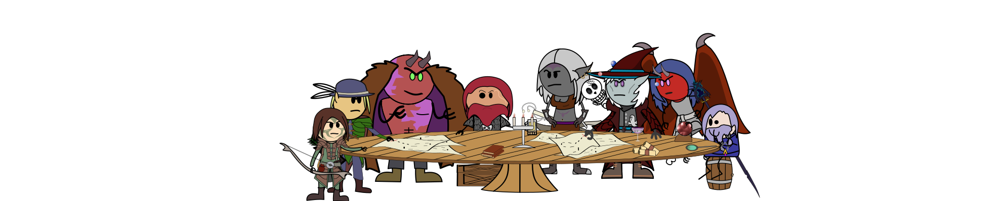 Song of sadness banner table