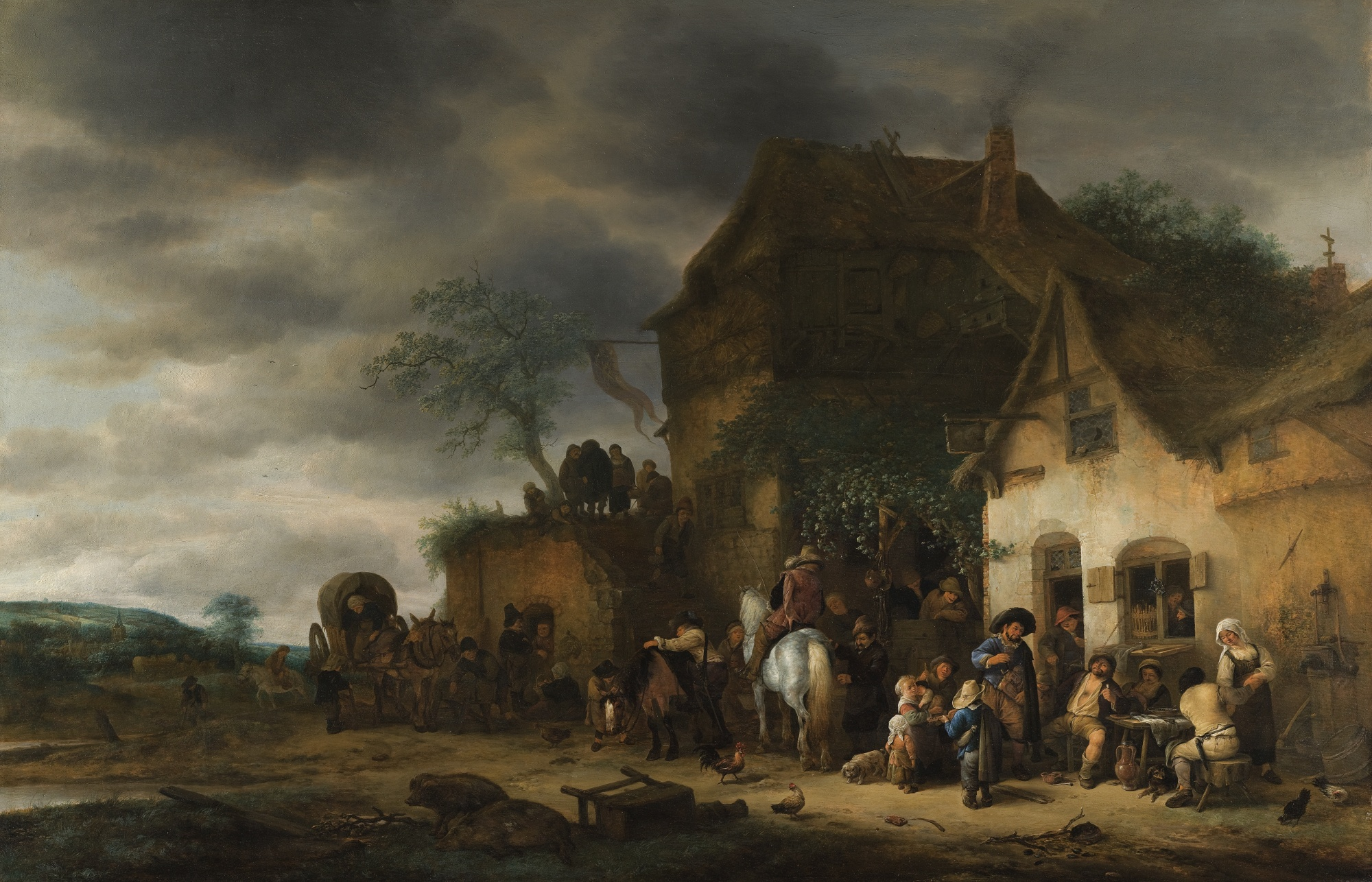 Travellers_Halted_at_a_Country_Inn__by_Adriaen_Jansz._van_Ostade_Haarlem_and_Isack_van_Ostade_Haarlem.jpg