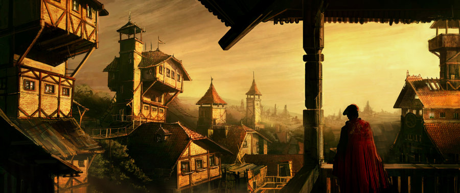 Medieval city by silviudinu d5dz9af