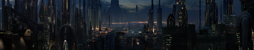 Coruscant at night banner