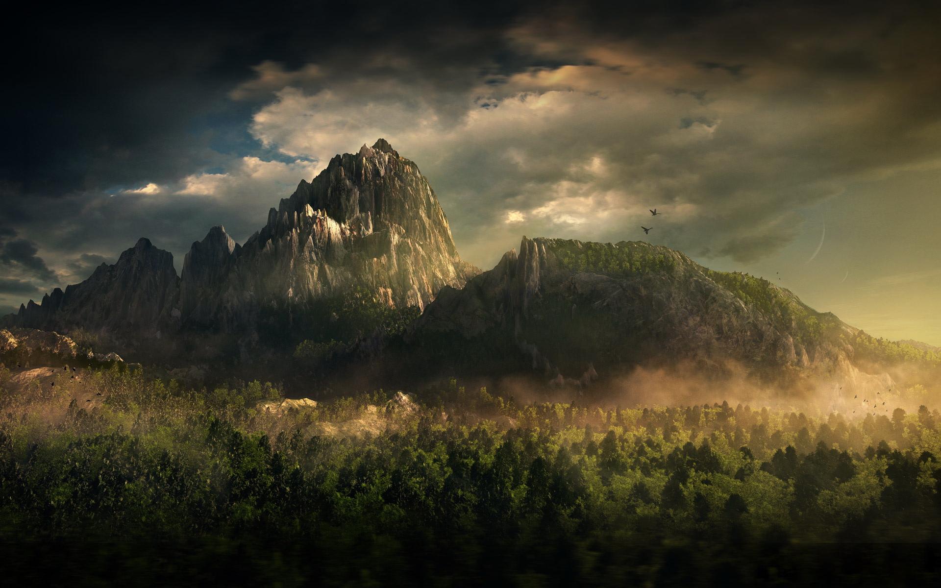 Fantasy mountain