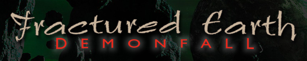 Fractured earth banner