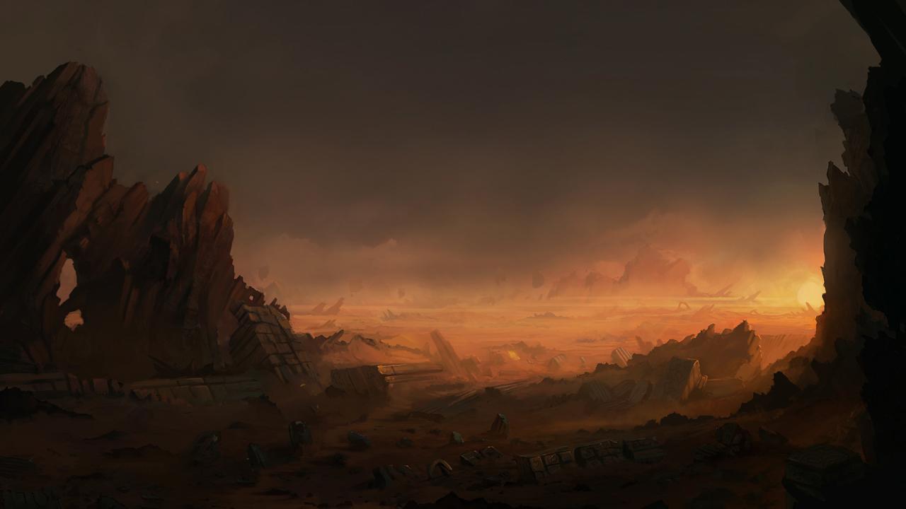 Desert ruins by blinck d304j7r