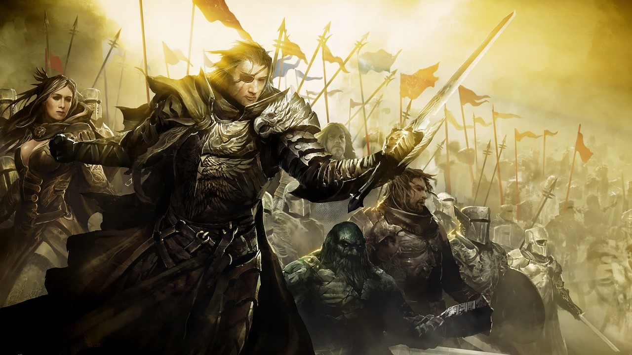 Guild wars 2 epic battle artwork wallpaper