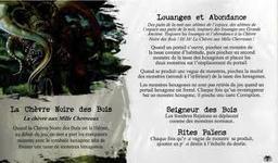 - Héraut: La Chèvre Noire des Bois