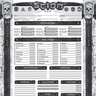 Template, God of Character Sheets