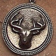 Silver Dear Skull Amulet