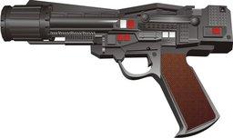 Heavy Pulse-Beam Laser Pistol