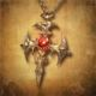 blood cross necklace