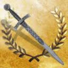 Longsword with dull earth gem