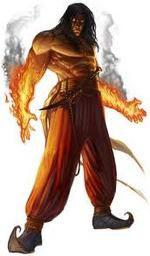 Langston Leersatu is an Ifrit Druid Pack Lord (and Slave Trader)