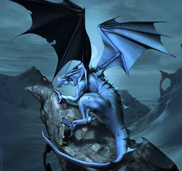 Pyre The Blue dragon of the sands