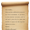 Kedhira Letter