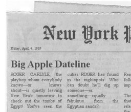 Carlyle Expedition Clipping #1