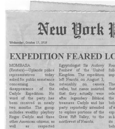 Carlyle Expedition Clipping #5