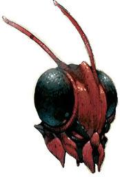 Maske der Roten Mantis