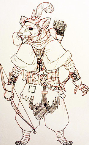 Lady Hatch Thingfinder of Underpahn, Adventure Class, Knight of Horngast