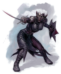 Cultist Drow Warrior