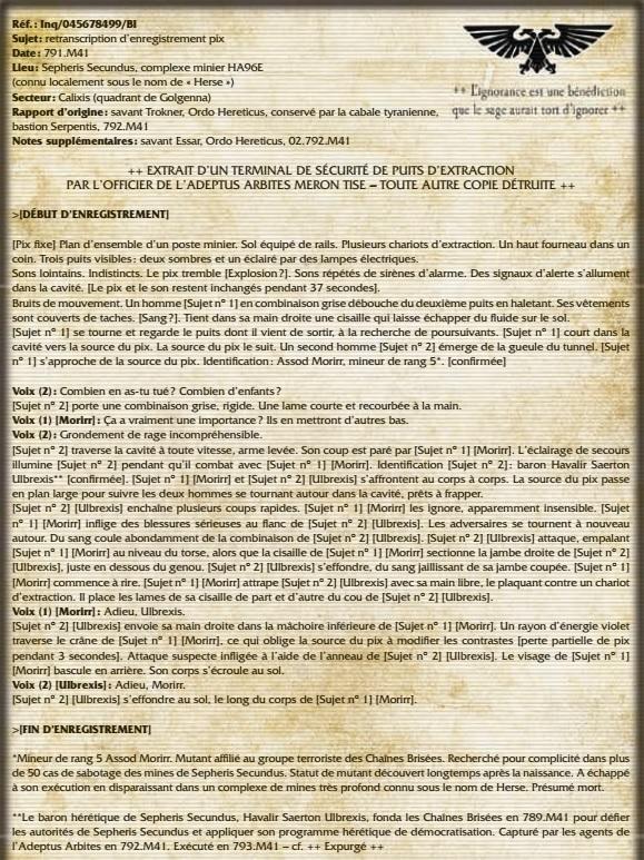 Pix-enregistrement : le dernier combat d'Ulbrexis
