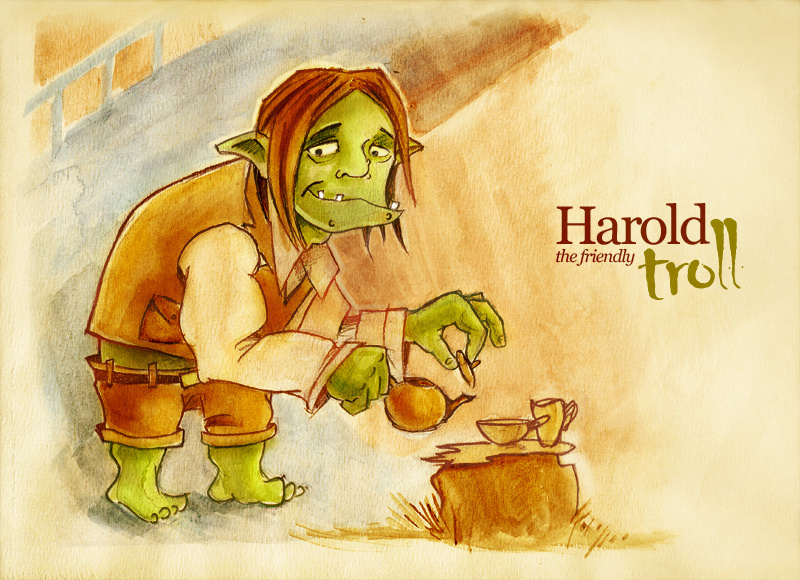 Harold the Helpful Bridge Troll