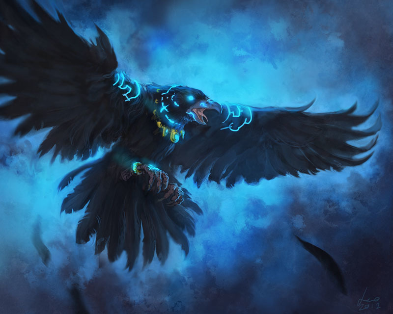 Barbas, in raven form