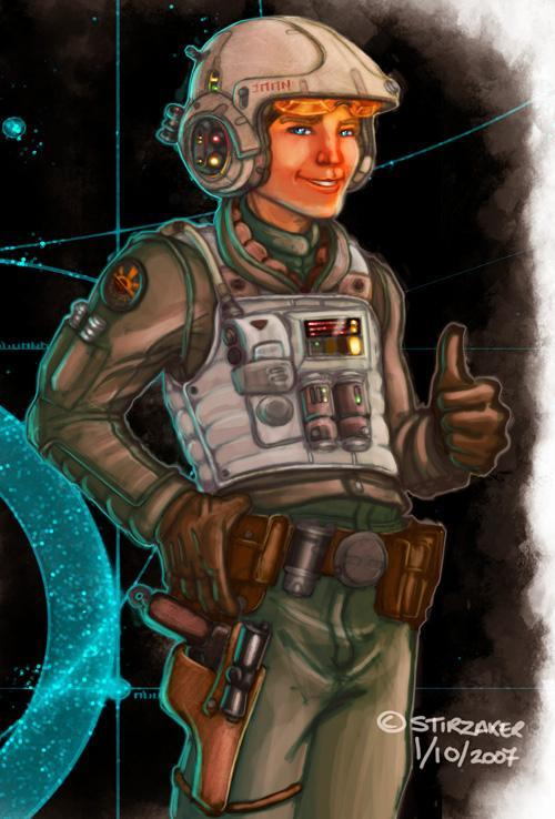 Aeron Belos, Recruit, Rebel Starfighter Command