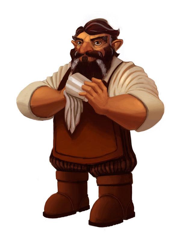 Gristle Bronzeshoulder (Dwarf Fighting Promoter & Tavernkeeper)