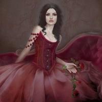 Iesha Foxglove Painting