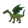 Monster- Dragon Green Young (05)