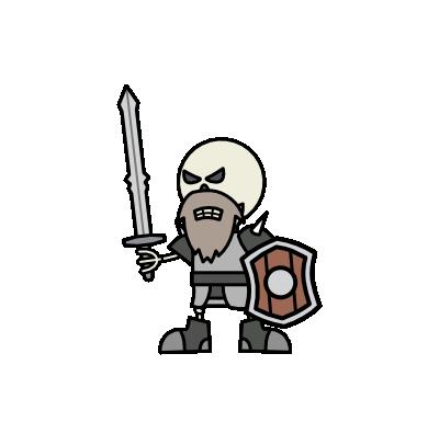 Monster- Skeleton Dwarf Honour Guard (05)