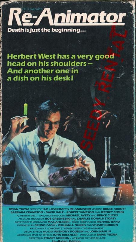 Re-Animator VHS