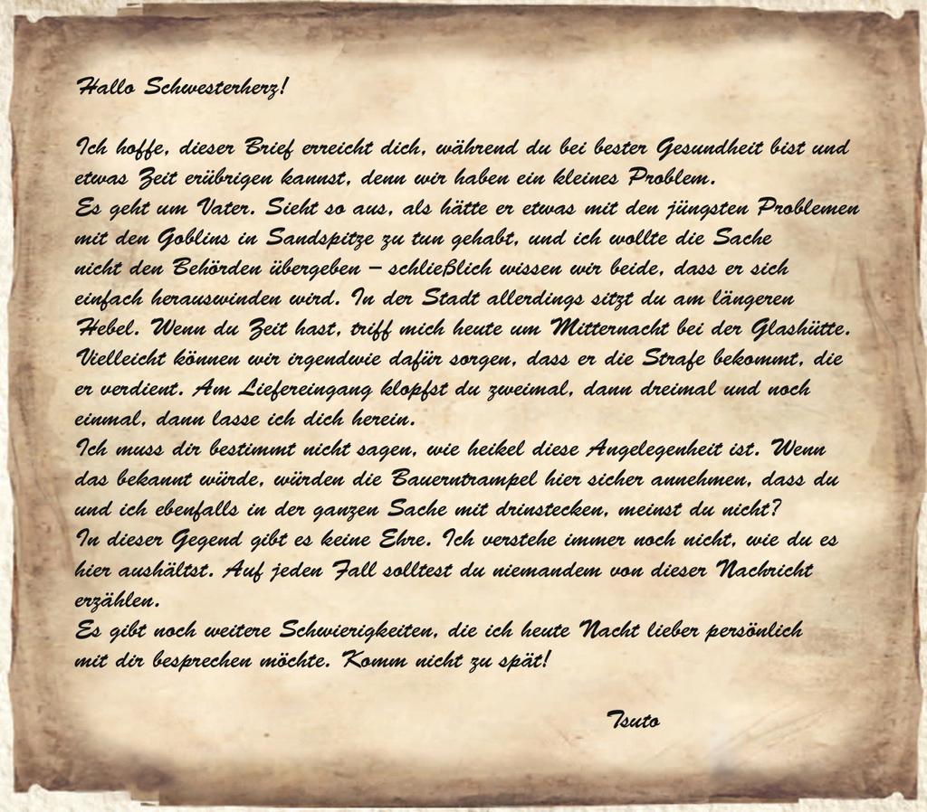 Tsutos Brief an Ameiko
