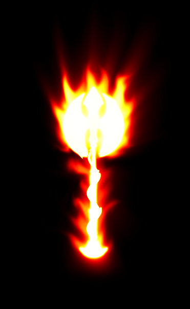 Rudiger's Flaming Great Axe