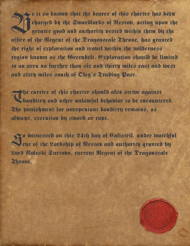 Stolen Lands Charter