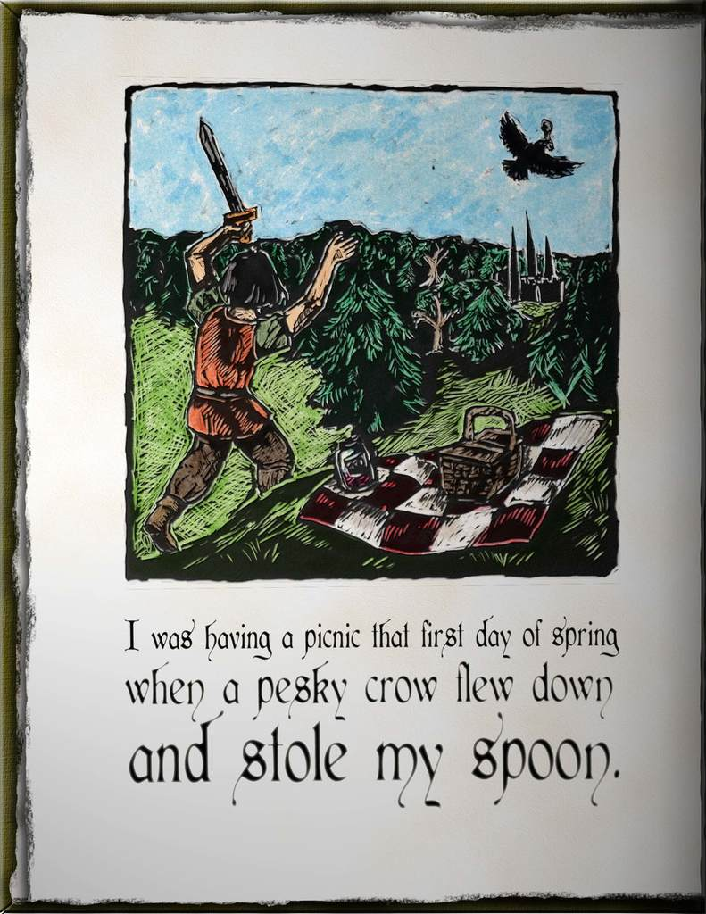 Disturbing book page