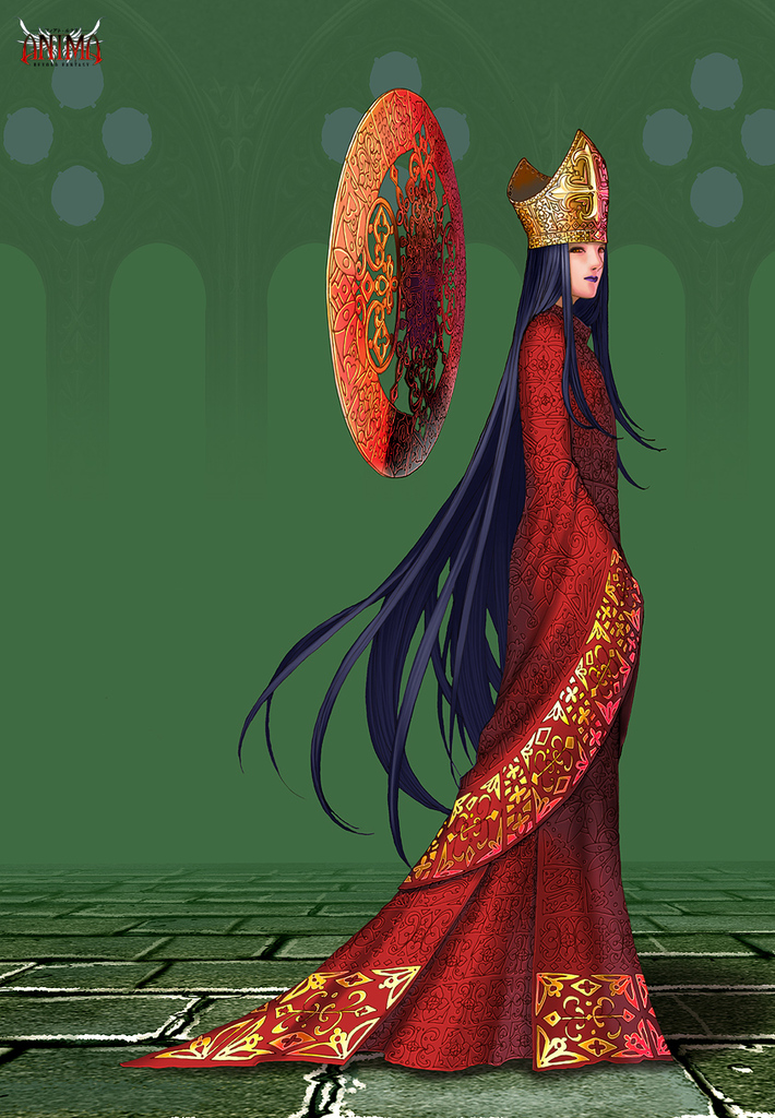 The Glorious Lady of the Crimson Robes