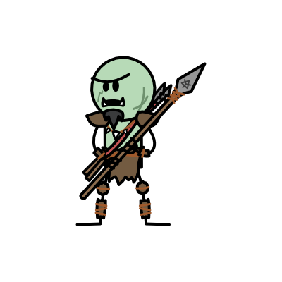 Monster- Orc Spearman (04)